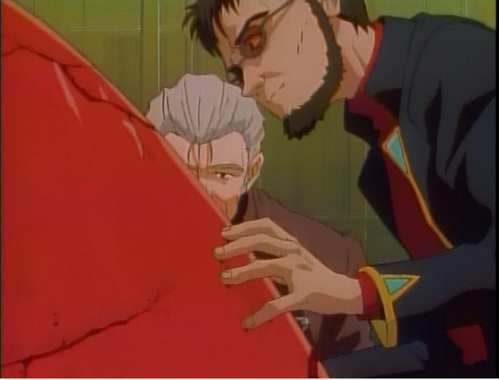 Gendo is interesting in the angel's heart