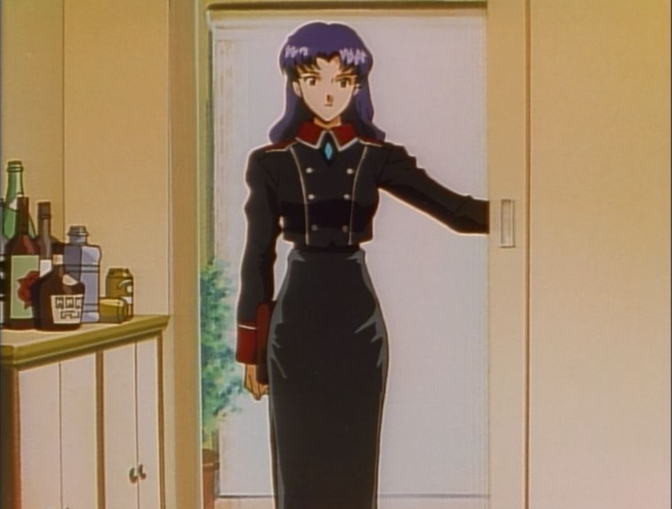 misato in dress