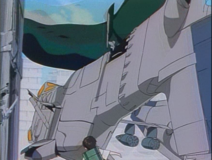Shinji is tiny compared to the angel