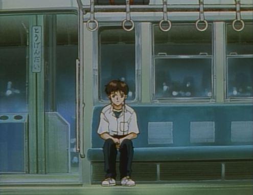 Shinji looks up