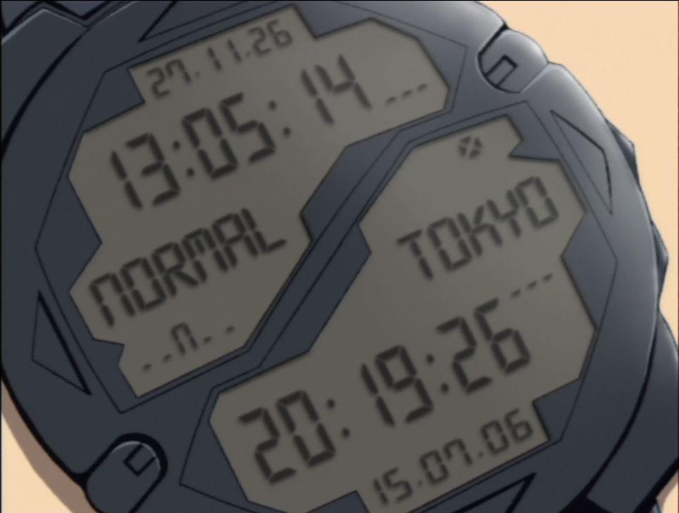 Close up on Haruka's watch