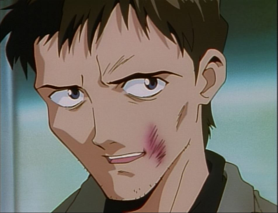 Gendo has no glasses