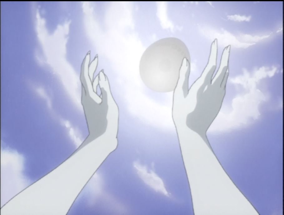 Quon reaching for the egg