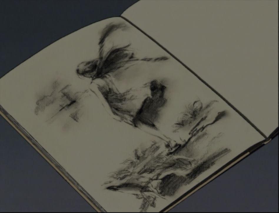 The girl in the sketchbook